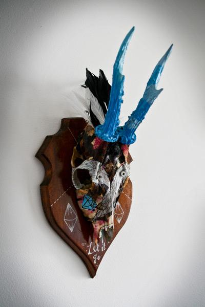 Custom sur Crâne de Chevreuil