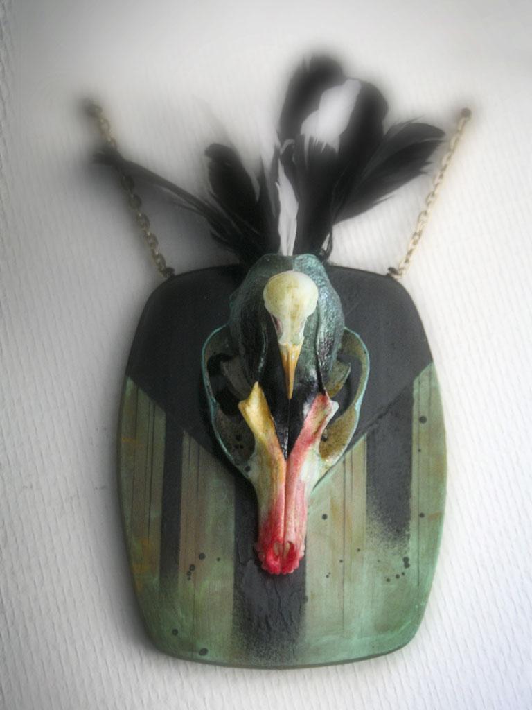 Custom sur Crâne de Renard & Oiseau