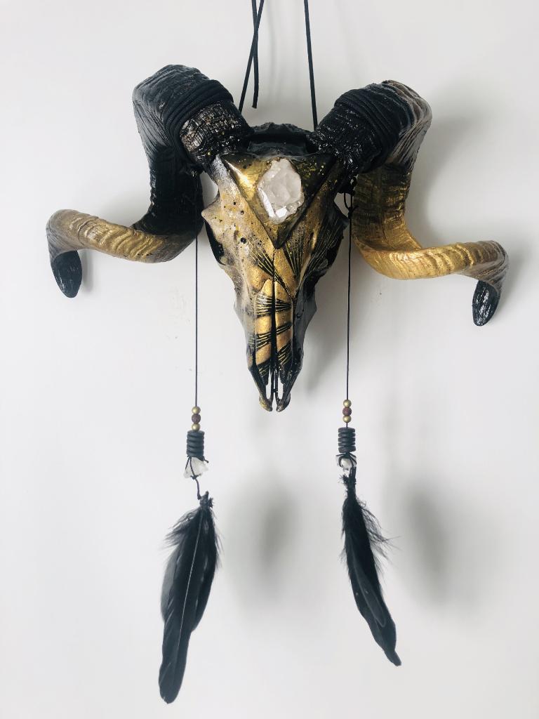 Custom sur Crâne de Bélier