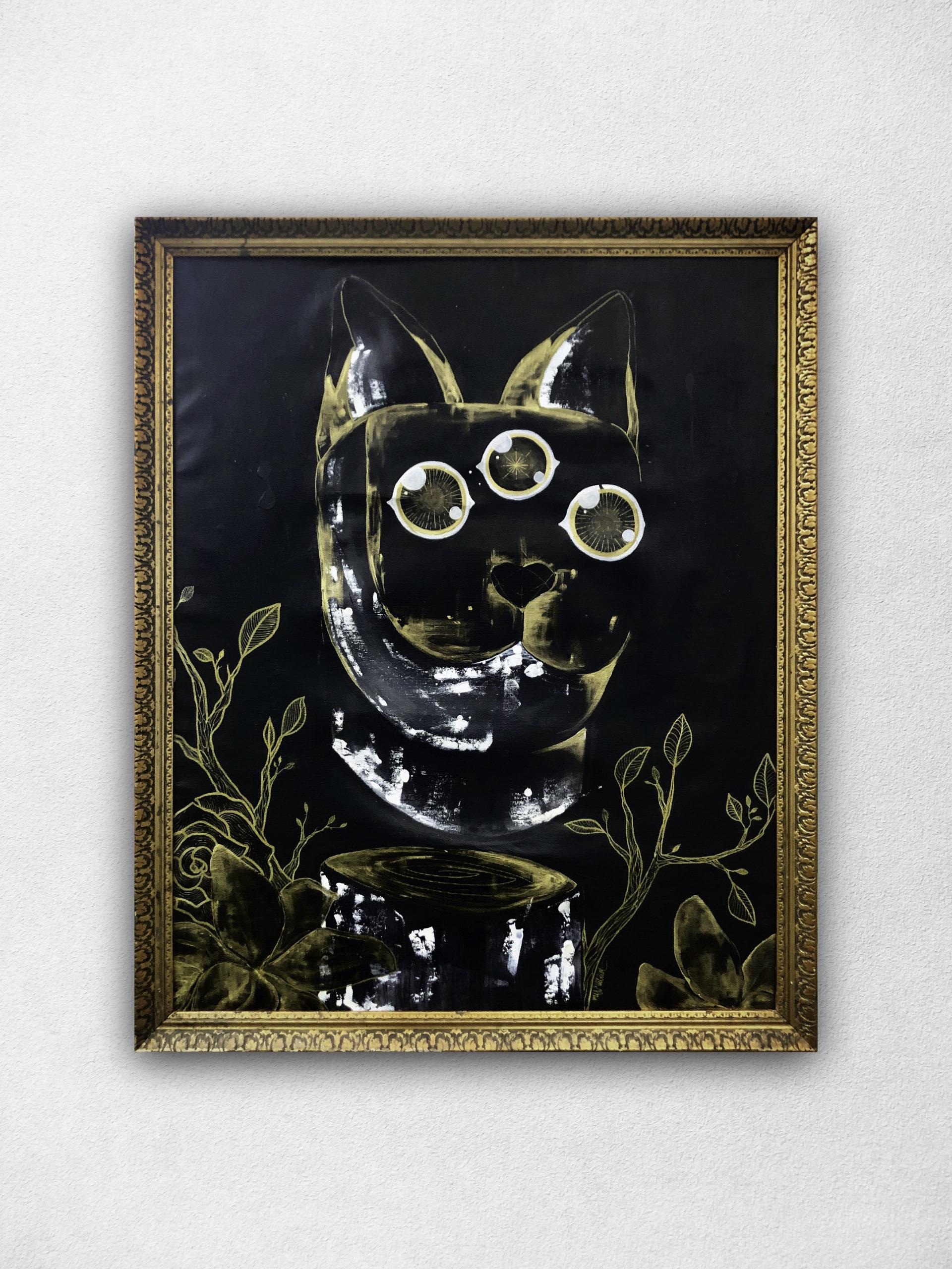 Peinture sur Toile Chat 3eme œil