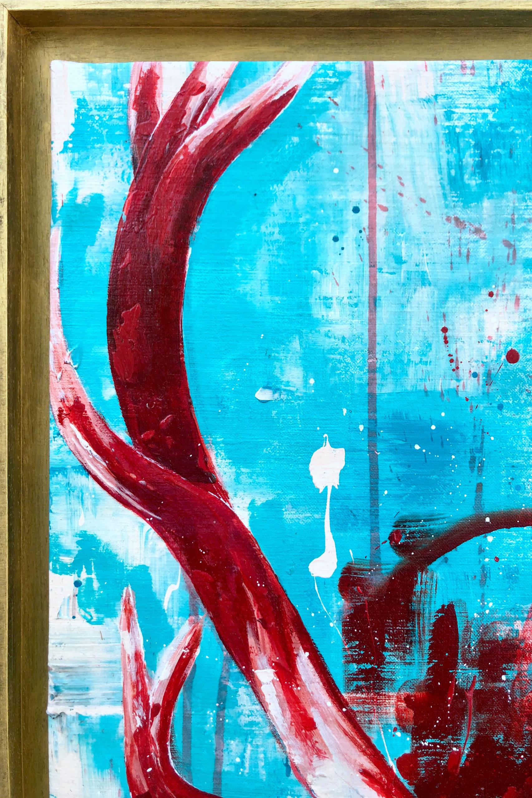 Details Peinture sur Toile My Deer in Red