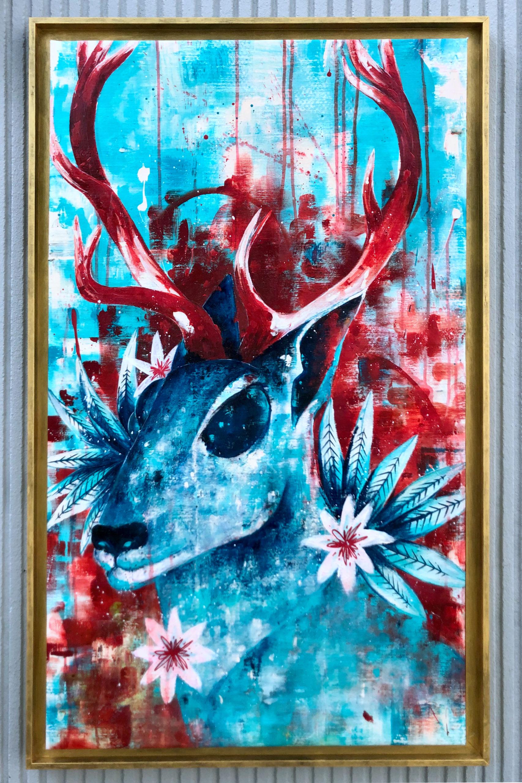 Peinture sur Toile My Deer in Red