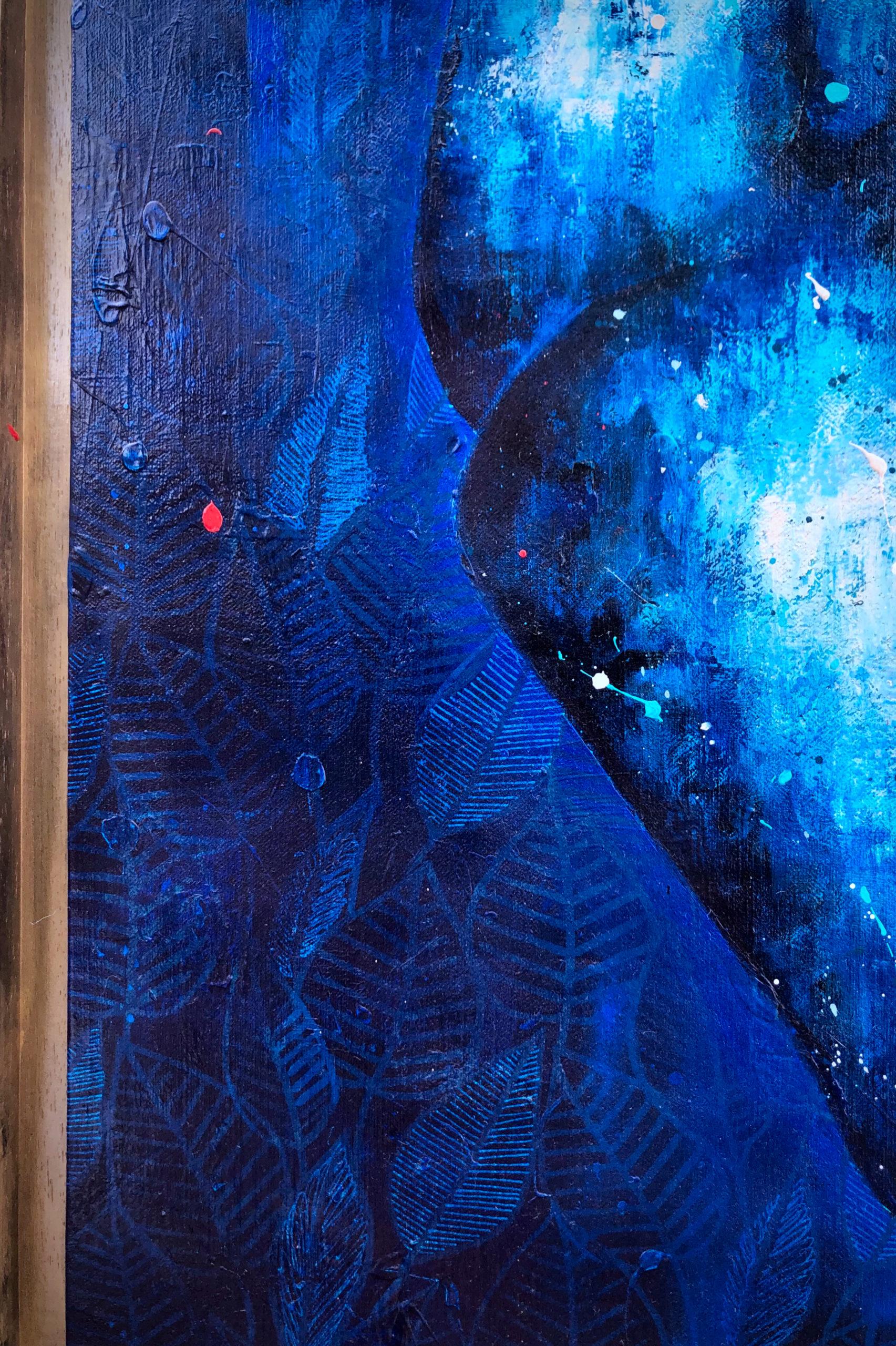 Details Peinture sur Toile Blue Heart