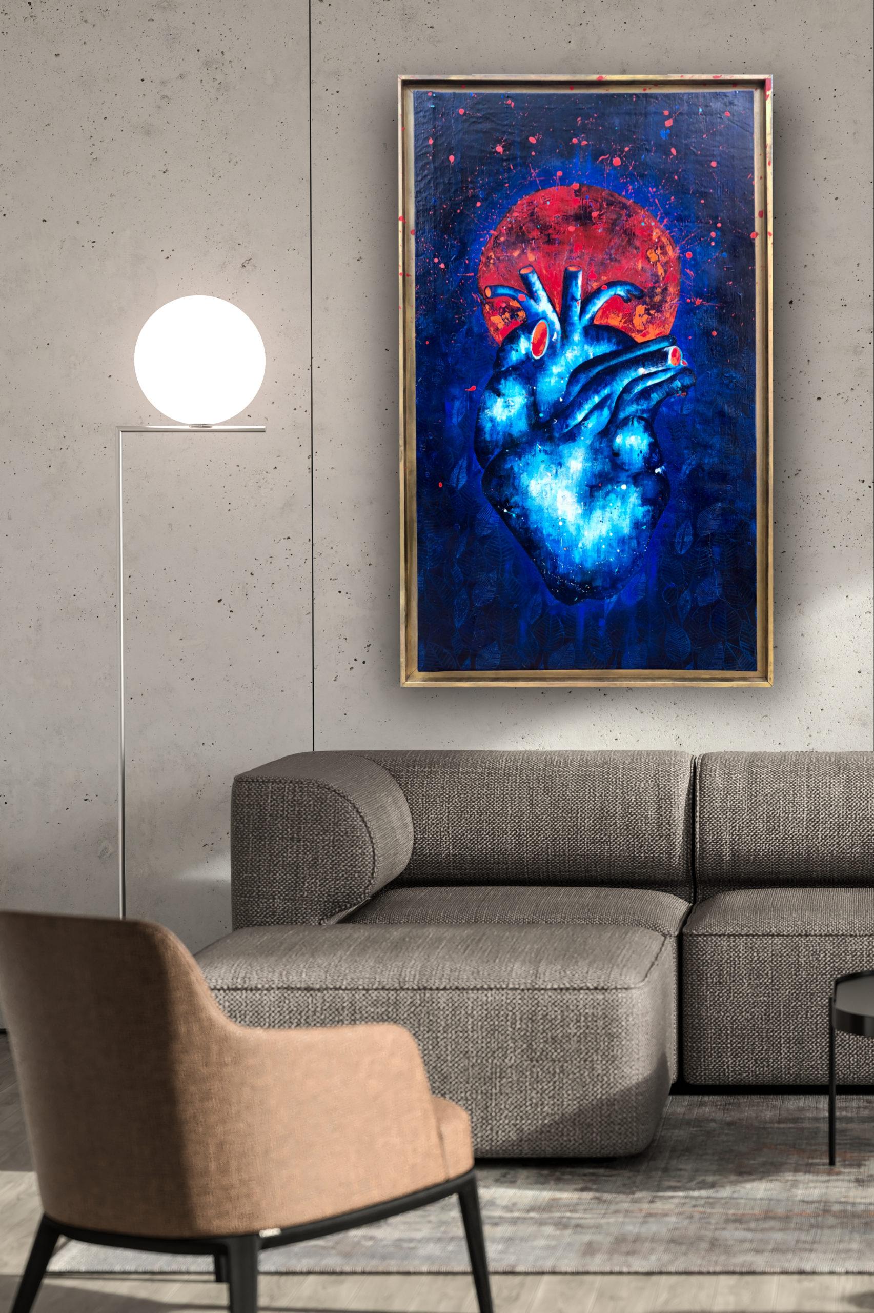 Peinture sur Toile Blue Heart