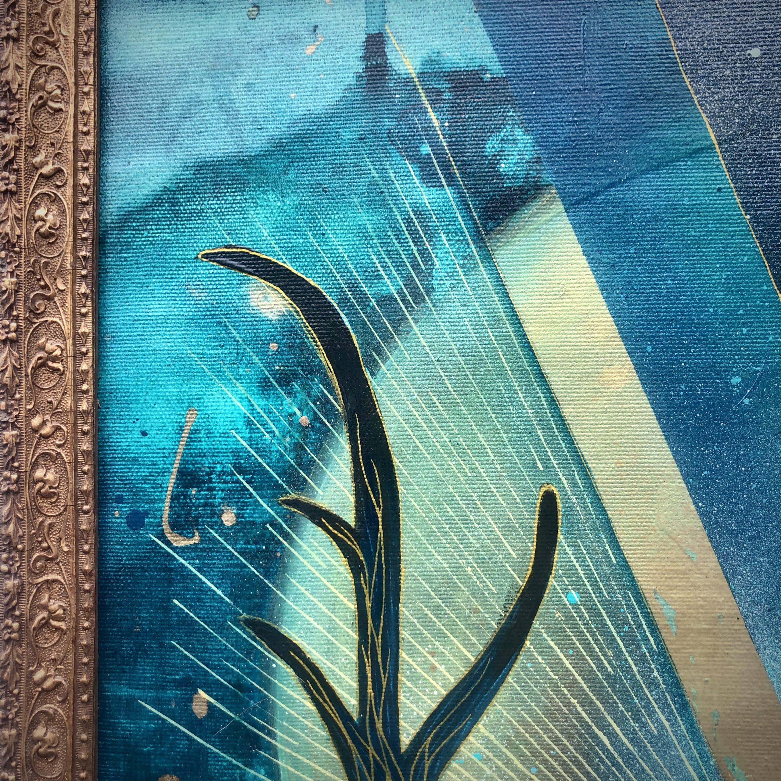 Détails Peinture sur Toile Diptyque Missunderstood