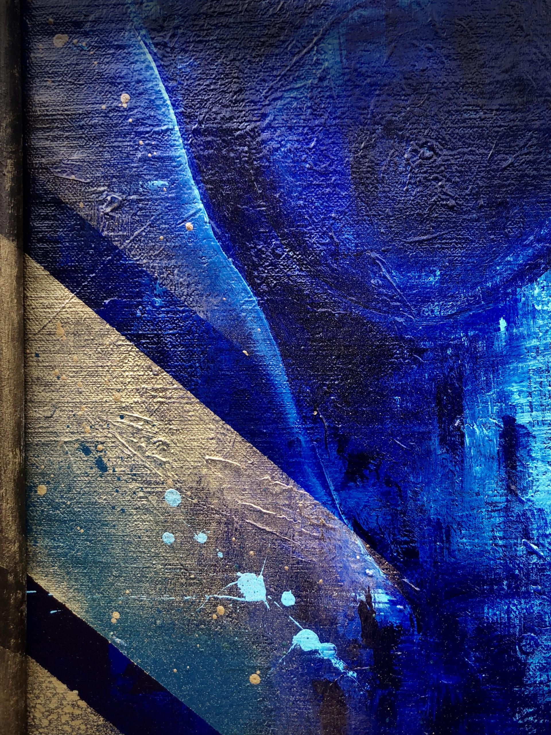 Details Peinture sur Toile Neon Blue Skull
